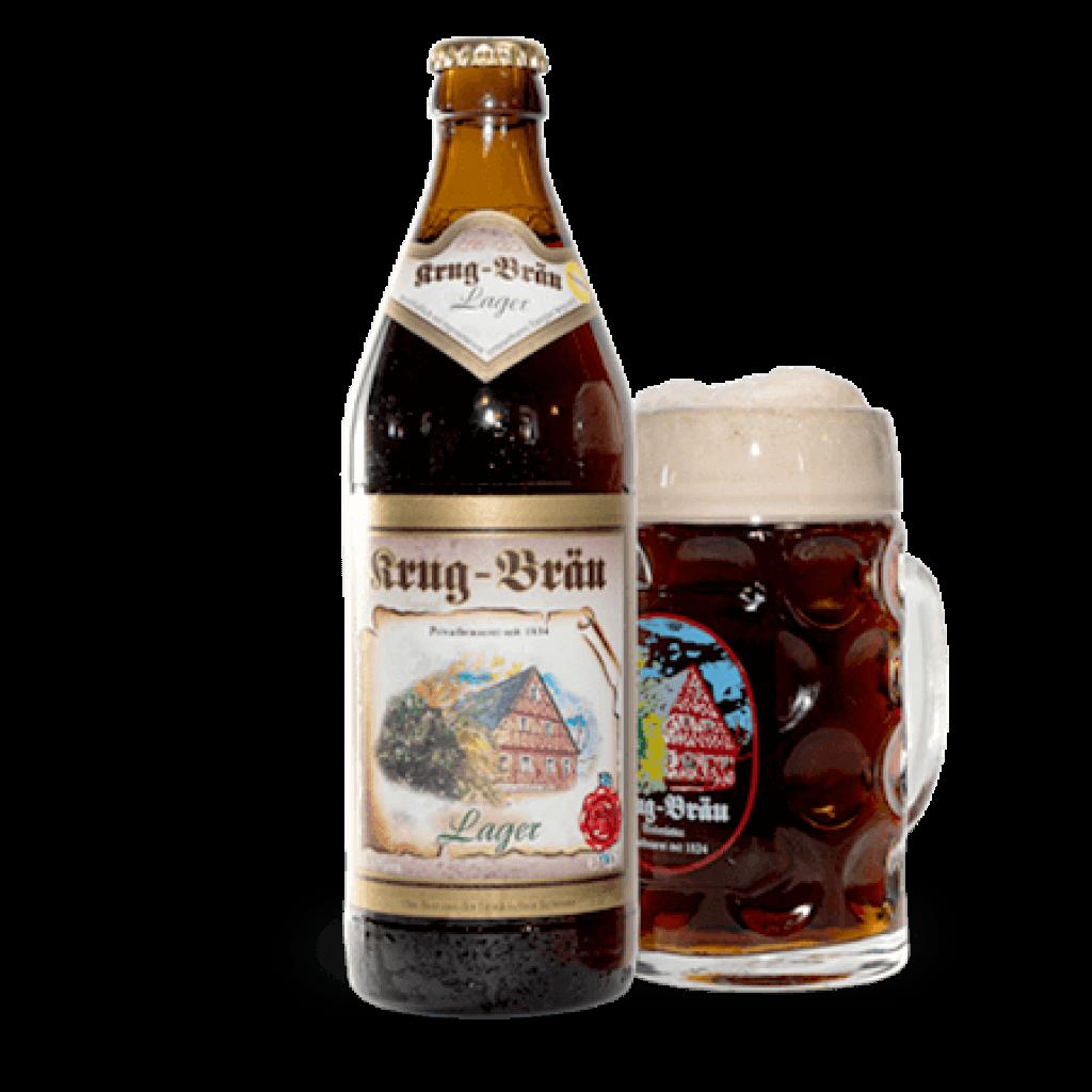 Krug-Braeu Lager Flasche 0,5l + Glas_1