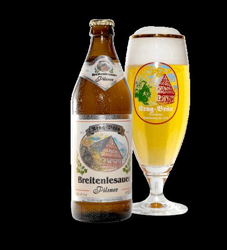 Krug-Braeu Pilsner Flasche + Gläser