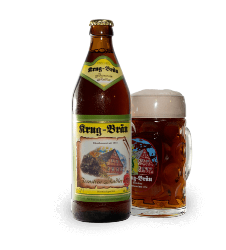 Krug-Braeu Radler Flasche + Gläser